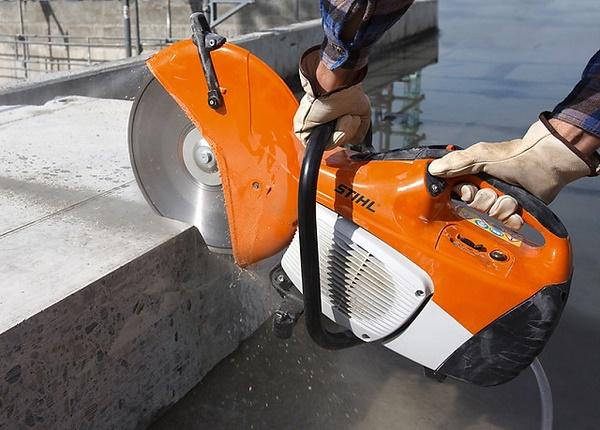 Couper du béton avec un coupe gaz