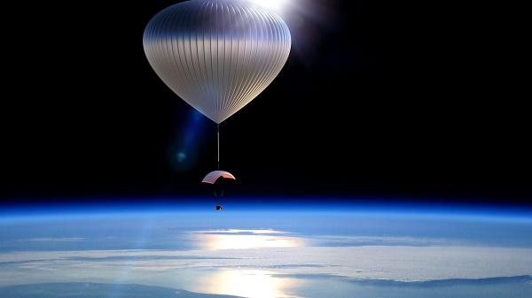 Ballon dans la stratosphère