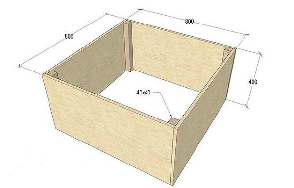 Base de bois