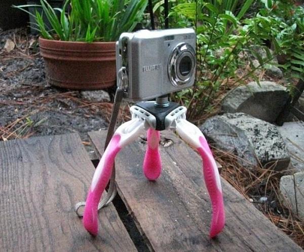 Kamera på et stativ