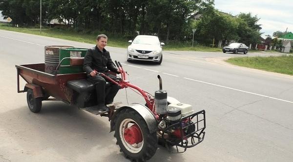 Tracteur à pied fait maison