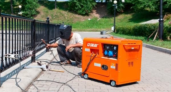 Elektrische generator voor lassen