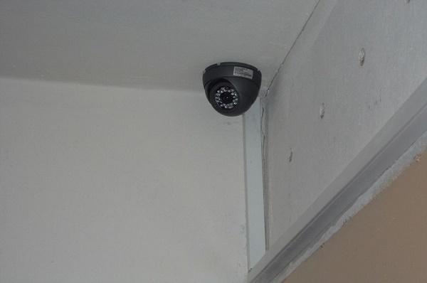 Kamera a bejáratnál