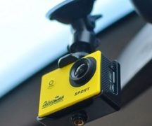 Action camera with DVR function
