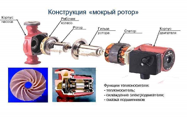 Rotor humide