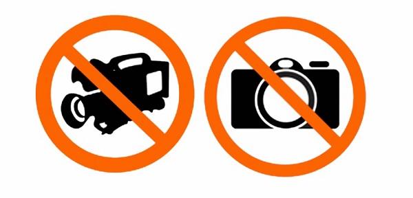 A fotó- és videofelvételek tiltása