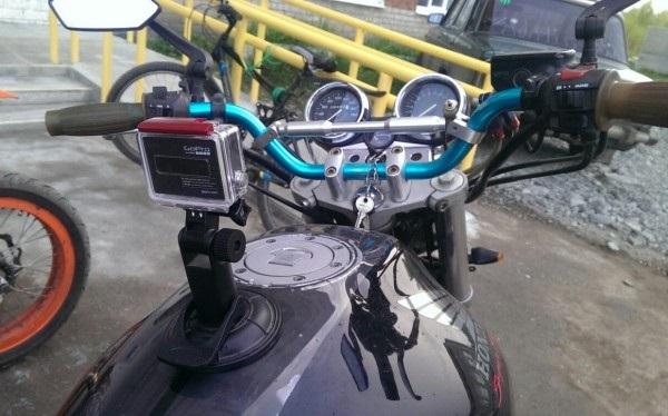 Motorsykkel med kamera