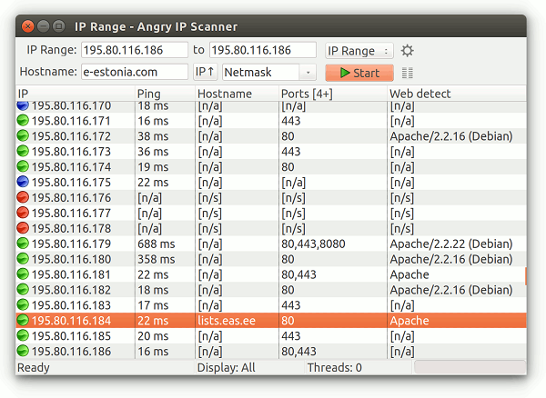 Angry Ip Scanner-Programm