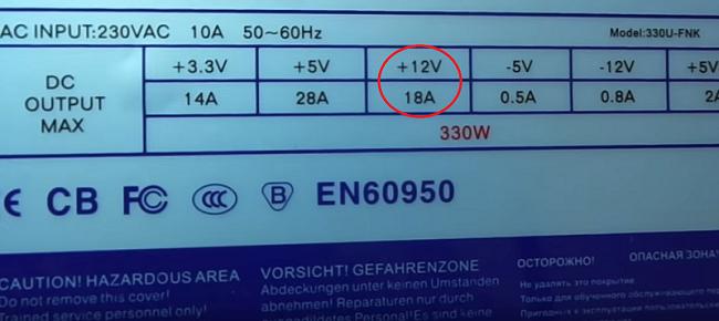 Strømforsyningsparameter