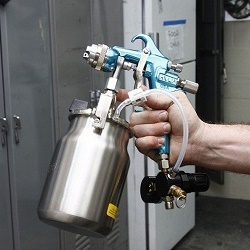 Adjustment and repair of the spray gun for various faults