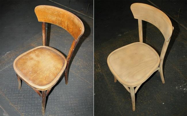 Fa szék helyreállítása