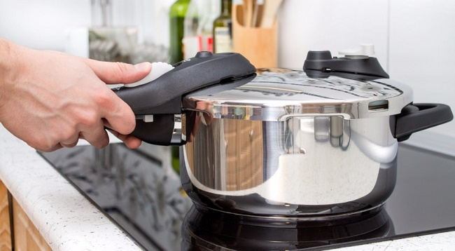 Cooking in a pressure cooker