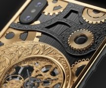 iPhone with built-in swiss watch