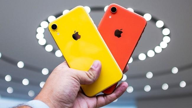 Gele en rode iphone