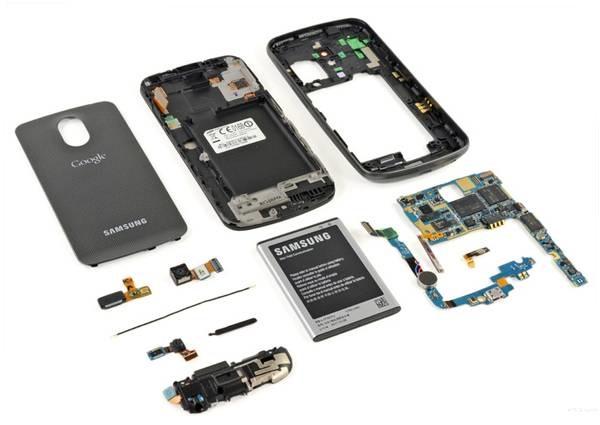 Detaljer om smarttelefonen