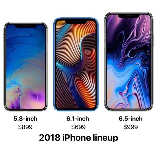 smartphones met verschillende diagonalen